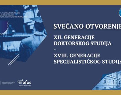 Svečano otvorenje XII. generacije doktorskog studija Management